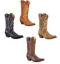 Ladies Genuine Cowhide soft Leather Western Cowgirl snip toe Boots PR_348