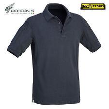 Maglia Polo Tattica DEFCON 5 Manica Corta Combat Shirt Militare Softair Blu Navy