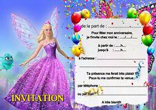 5 - 12 ou 14  cartes invitation anniversaire princesse réf 447