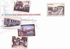 2012 Anniversario ferrovia elettrica - San Marino - busta postale