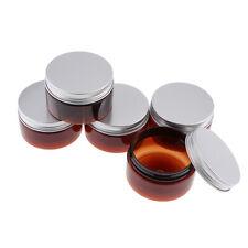 5 Stück Braune Glastiegel 50ml/Salbentiegel / Cremetiegel/Glasdosen aus