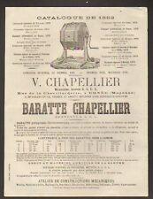 """ERNEE (53) BARATTE """"V. CHAPELLIER"""" en 1882"""