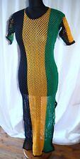 Netz-Kleid Maxi _ Long Maille Robe _ Jamaïque, Rasta, Reggae, Sexy