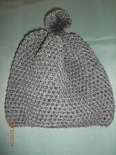 Häkelmütze Mütze Wintermütze Boshi Damen Kinder Häkelmütze grau Gr. S 48 50 52