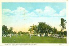 Sebring,Fl. The Putting Green at Kenilworth Lodge