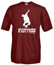 T-Shirt girocollo manica corta Sport Q01 Skateboard Skateboarding is not a crime