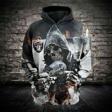 HOT Oakland Raiders Hoodie Football Hooded Sweatshirt Sports Jacket Fan's Gift