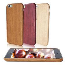 Schutzhülle für Apple iPhone 5 5s SE Bumper Handy Case Cover Tasche Holz Natur