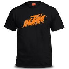 Genuine Official KTM Racing Motorcross Biker Mtorcycle Black Mens Tee T-Shirt