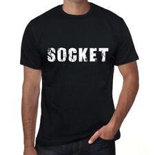socket Hombre Camiseta Negro Regalo De Cumpleaños 00546