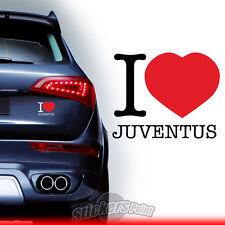 adesivo I LOVE JUVENTUS stickers PVC auto squadre calcio serie A