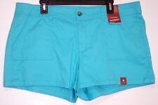 NWT Arizona Comfort Waist Low Rise Stretch Short Shorts 15  19 JR Blue Curacao