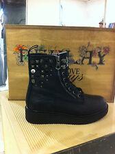Replay Chaussures Femmes Chaussures Bottine Boots Noir Clouté plateforme