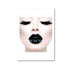 Scandi Model Black Lady Poster Print, Canvas, Scandinavian Design Monochrome