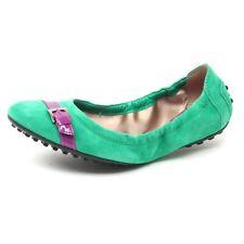 B4584 ballerina donna TOD'S DEE FIBBIETTA scarpa verde/fucsia shoe woman