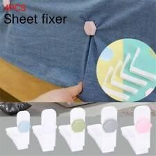 Lots 4pcs Bed Sheet MATTRESS Holder Fastener GRIPPERS Clips SUSPENDER Straps