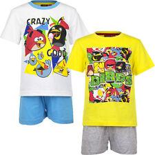 Nuevo Set Pijama corto niños Angry Birds Blanco Amarillo 104 116 128 140 #64