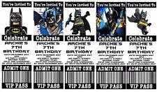 LEGO BATMAN Personalised Ticket Style Birthday Invitations