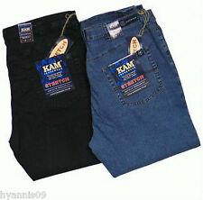 Kam King/Big Sizes Mens Stretch, Stonewash Denim & Black Jeans  W 40 upto W 64