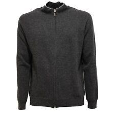 0137V maglione lupetto full zip uomo ALTEA grigio lana sweater men
