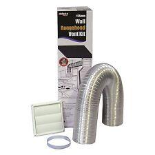Deflecto WALL RANGEHOOD VENTING KIT Duct Clamp Vent Semi Rigid- 125mm or 150mm