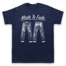 Hecho a desaparecer Denim Jeans fresco de estilo vintage y retro Moda Hombre Mujer Niños Camiseta