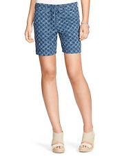 Lauren Ralph Lauren Blue Mu Shibori Drawstring Shorts Size 8 16 NWT