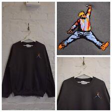 Actual Fact Biggie x Jordan Hip Hop Charcoal Crew Neck Sweatshirt Top