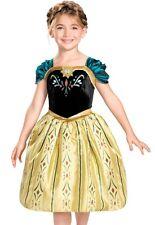 Princess Anna Coronation Dress Child Girl Disney Frozen  XS 3T-4T, S 4-6, M 7-8