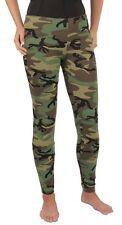 Womens Woodland Camo Stretch LADIES Leggings Rothco 3298 SIZES XS S M L XL 2X