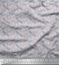Soimoi Tissu ours en peluche et coeur visage tissu imprimé au mètre - FC-507H