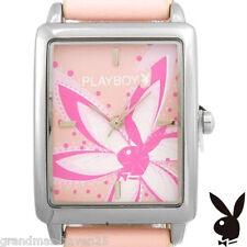 RARE! Brand New PLAYBOY PINK Flower Quartz Watch Women's NIB  __pbo325pk