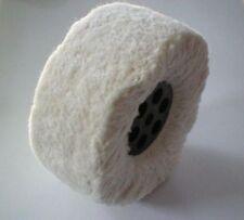 disque brosse à satiner genre coton doux pour polir argent or alliage ø 50 mm