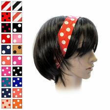 Haarband mit Punkten oder Streifen und Draht Polkadots Rockabilly Schleife rot