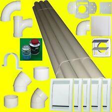 5 Saugdosen ES oder Deco Rohbauset  Montageset Rohrsystem Zentralstaubsauger