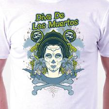 """""""la muerte Diva"""" T-Shirt: Retro Calaveras Muerte Culto Regalo De Cumpleaños Idea de Regalo"""