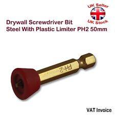 Drywall pedacito de Destornillador Bits De Acero Con Limitador De Plástico PH2 50 mm