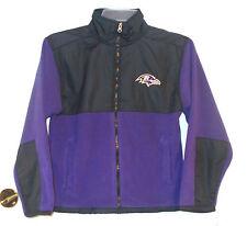 NFL Team Apparel Boys Baltimore Ravens Full Zip Fleece Jacket Size 6-7 or 12-14