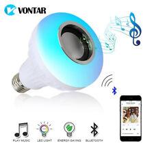 VONTAR E27 B22 Altavoz RGB LED Mando Wireless BLUETOOTH Bombilla 12W 110V 220V