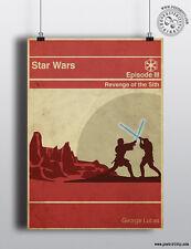 La vendetta dei Sith Star Wars minimalista MOVIE POSTER posteritty minima Wall Art