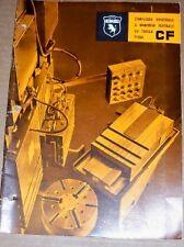 Vtg F.Lli Morando&C Catalog~Cf Boring/Turning Mills