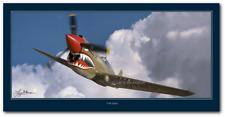 P-40 Warhawk 1 by Larry McManus - Curtiss P-40 Warhawk Aviation - Digital Art