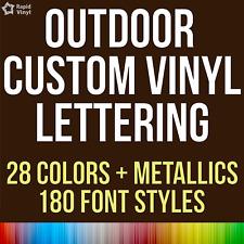 Custom Outdoor Vinyl Lettering Decal Car Truck Boat Jeep Window Glass Sticker
