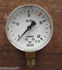 PRESSURE GAUGE pres 0-40 Rosca 1/4 de 2 3/8in para Regulator Flow metre GAS