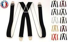 Bretelles Élastique Pantalon à Pinces Clip Ajustable Homme Fabriqué en France