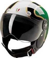 HCI Open Face Fiberglass Motorcycle Helmet - Italian Flag - 15-670