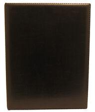 Carpeta de anillas marrón, negro, A4 muy alta calidad Estuche