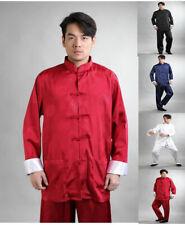 UK Stock New Chinese Style Men's Jacket With Pants Kung Fu Suit Tai Chi Clothing