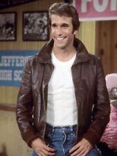 Happy Days Henry Winkler Fonzie Bomber Leather Jacket