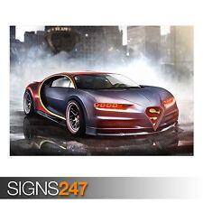 SUPERMAN BUGATTI CHIRON (AA447) CAR POSTER - Photo Poster Print Art * All Sizes